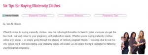 Six Tips for Buying Maternity Clothes, Nursing Clothes